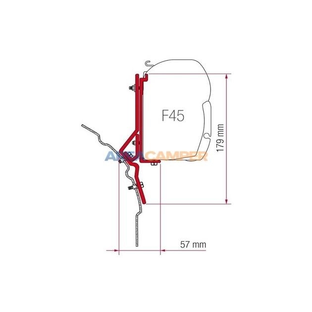 Soporte toldo Fiamma F45 S VW T4 (2 uds), techo normal o elevable