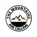 """Adhesivo """"The mountains are calling"""", Ø 15 cm"""
