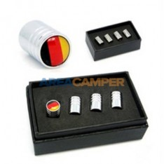 Wheel valve cap with German flag