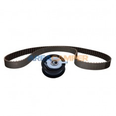 Toothed timing belt with...