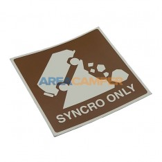 """76x76 mm """"Syncro only"""" sticker"""