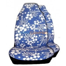 Hawaiian seat covers set, blue