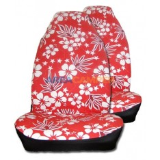 Hawaiian seat covers, red