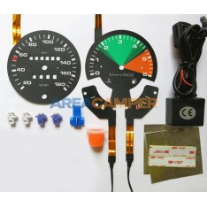Backlit dash lighting upgrade kit, KM/H and 6000 RPM