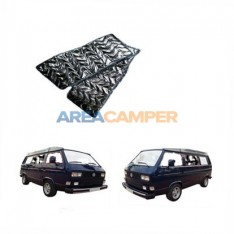 Central and  rear side window thermo mats for the VW T3, 3 layers