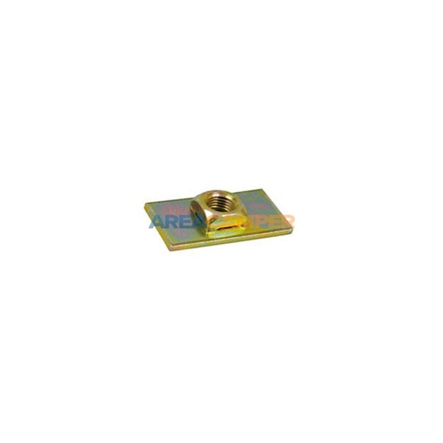 Safety belt mounting plate