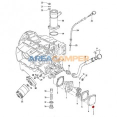 Nut for oil pump cover