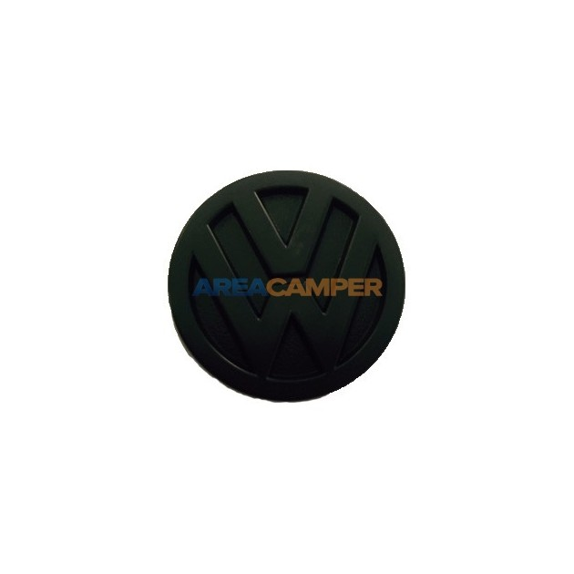 Emblem for steering wheel cover cap, black