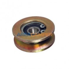 Vertical roller bearing for central hinge on sliding door, late models