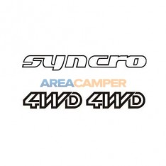 Syncro 4WD decal set