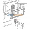 Spring for sliding window opening mechanism