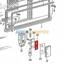 Seal for sliding window opening mechanism support