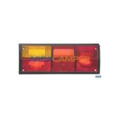 Left tail lamp lens, without reverse light, for ULO lamp holders