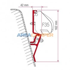 Fiamma F35 Pro awning support (2 units) for VW T3