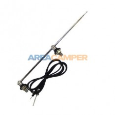 2-points side antenna with chromed bases, length 1500 mm
