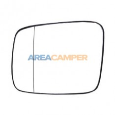 Spherical left mirror glass for manual exterior mirrors