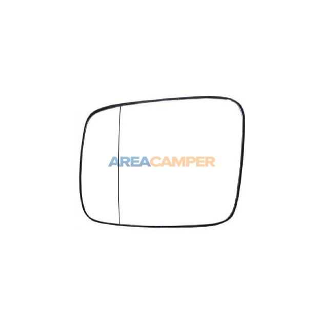 Aspherical mirror glass  with plate, left lhd