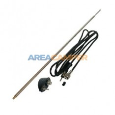 1-point side antenna with black base, length 1400 mm