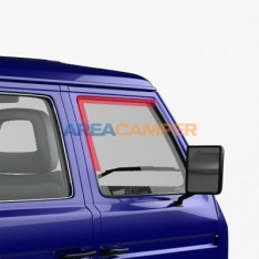 Felt channel for cab door glass, for models without chrome trim