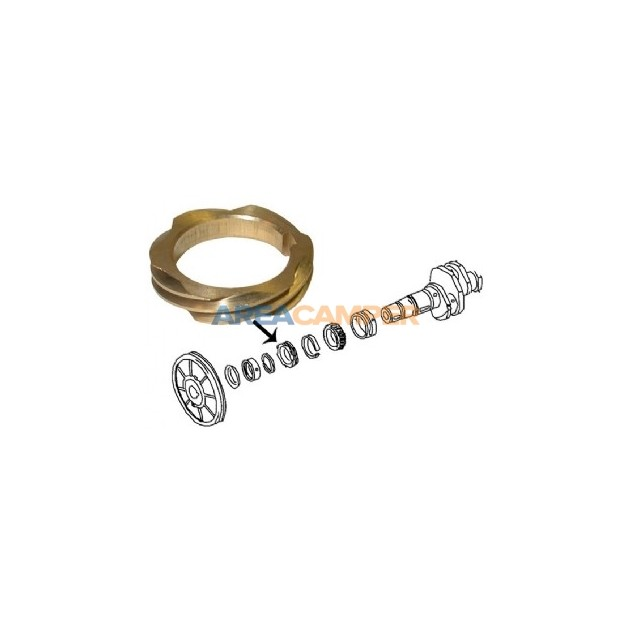Gear for distributor drive (05/79-07/92), 1600 CC and 2100 CC