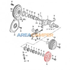 Crank pulley, 1900 CC and 2100 CC