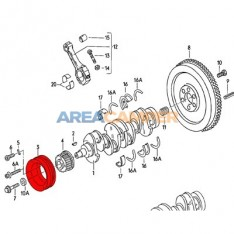 Dual pulley for crankshaft, Diesel engines with power steering