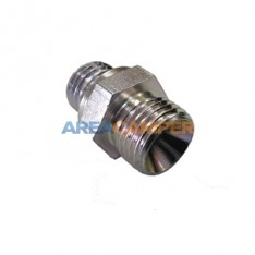 Double thread male fitting M18/M16 x 1.5 for VW T3 power steering feed pipe
