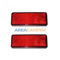 Red reflector 95 x 38 mm (2 units)