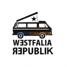 Westfalia Republik sticker, 9*9 cm