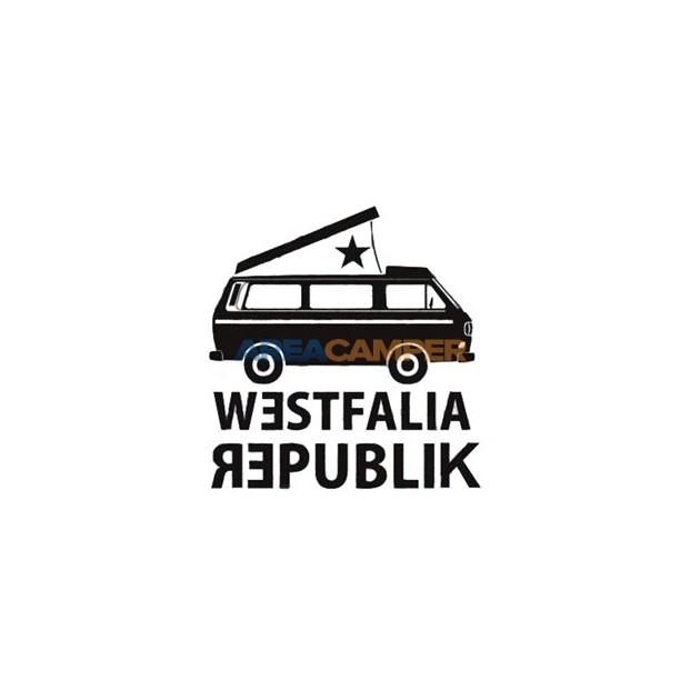 Westfalia Republik sticker, 9*9 cm