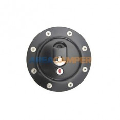 Aluminium fuel filler cap, black