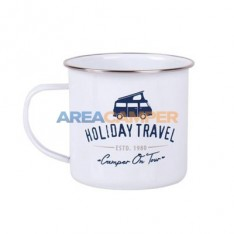 "Taza esmaltada ""camper on tour"", 500 ml Ø10 cm"