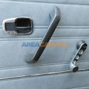 Interior door handle surround, chrome