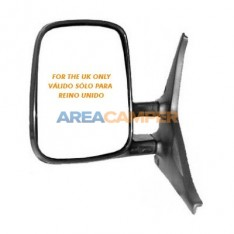 Convex manual and non heated left wing mirror, RHD UK only