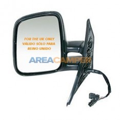 Convex electric and heated left wing mirror, RHD UK only