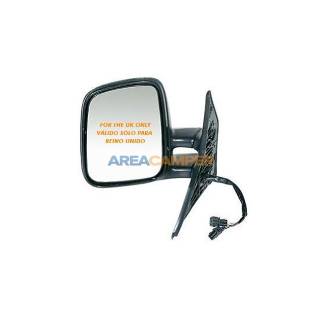 Outside electric and heatable convex mirror, left
