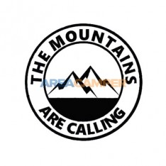 "Adesivo ""The mountains are calling"", Ø 15 cm"