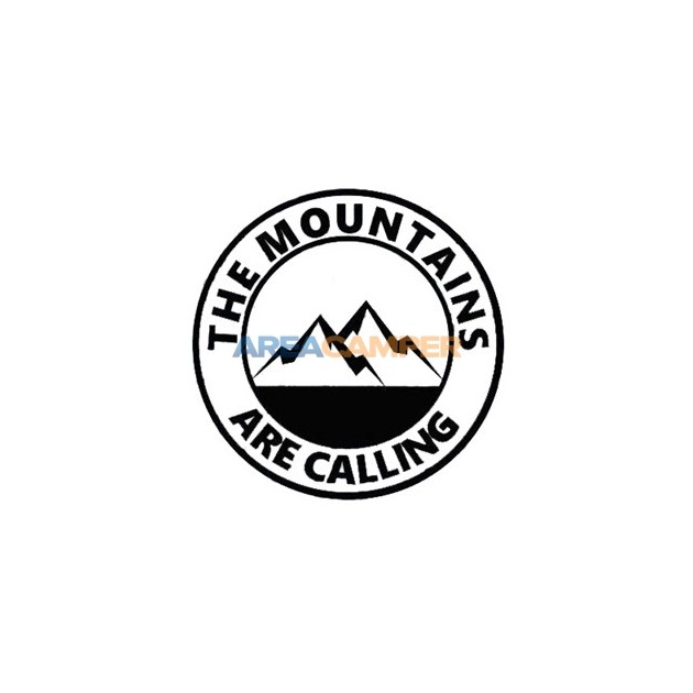 """The mountains are calling"" sticker, Ø 15 cm"