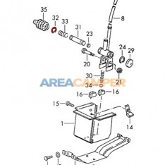 Circlip for gearshift lever