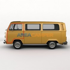 Cabin left door seal economy version, VW T2 (1968-1979)