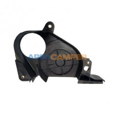 Toothed belt lower guard for Diesel engines