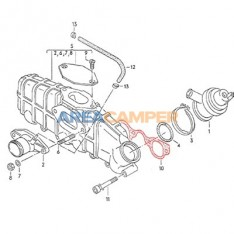 Inlet manifold gasket, 1600 CC D (CS) and 1600 CC TD (JX) until 1985