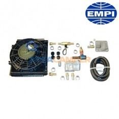 Additional oil cooler kit with fan and external filter