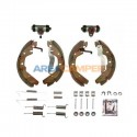 Rear brake shoe set, TRW