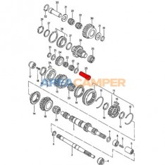 Reverse gear idler spindle for 4WD Syncro