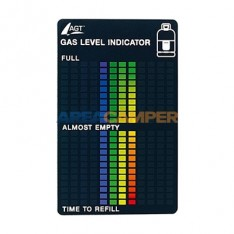 Gas level indicator, magnetic