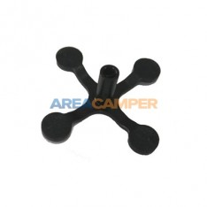 Interior clip for engine undershield sound absorber