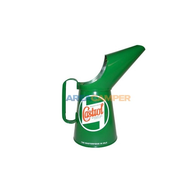 Castrol oil pouring can, capacity 2 pints (1,14 L)