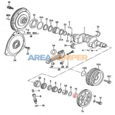 Crank pulley seal 450x66x17 mm pulley side Syncro petrol engines