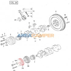 Polia de cambota para correia trapezoidal motor 1900 CC TD (JX)